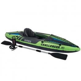 Kayak Challenger K1 C/remos de Aluminio - Piragua Hinchable