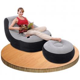 Sillón Ultra Lounge Con Reposapiés - Mobiliario de Jardín