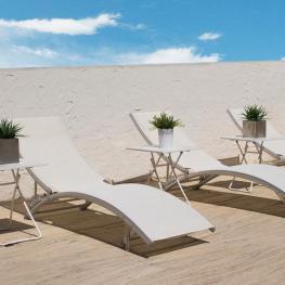 Tumbona de Aluminio Blanca By Craftenwood - Mobiliario de Jardín