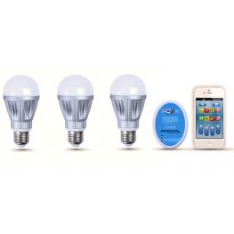 Pack-3 Bombillas Led Colores + Controlador Wifi - Iluminacion Led
