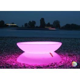 Mesa Luminosa Led Rgb Lounge de Interior Con Batería Deco