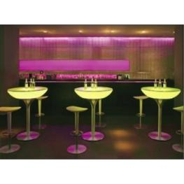 Mesa Iluminada Led Rgb Lounge 105 Con Batería de Interior -Deco